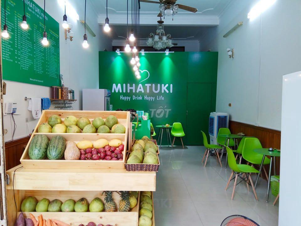 Tủ quầy L cửa hàng nước ép trái cây