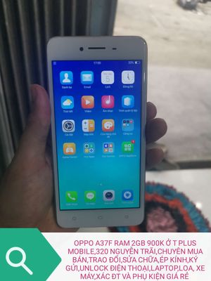 OPPO A37F RAM 2GB 900K RẺ Ở T PLUS MOBILE NHA ACE