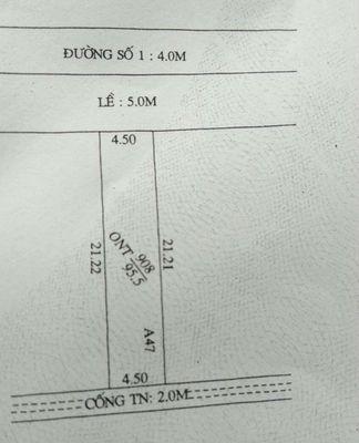 Bán đất ngay chợ mỹ khánh 4,5x21m2 thổ cư bao giá
