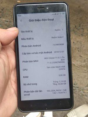 Xiaomi Redmi Note 4/4X Xanh dương mái zin