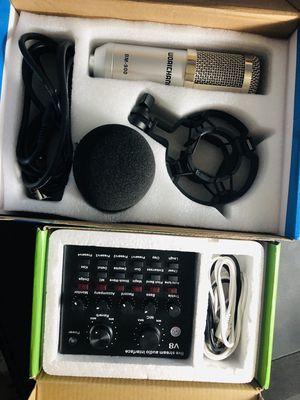 sound card v8 và mic BM 900 full hộp mới 98%