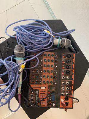 Loa kéo bass40+ mixer+2 mic dây