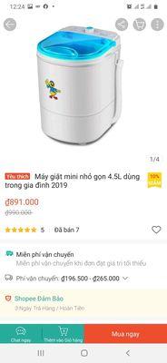 Máy giặt mini phòng trọ con vịt