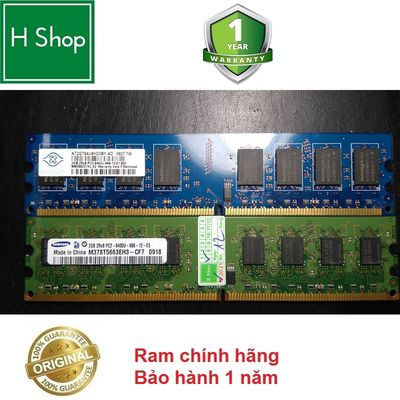 Ram PC DDR2 (PC2) 2Gb bus 800 /667, bảo hành 12th