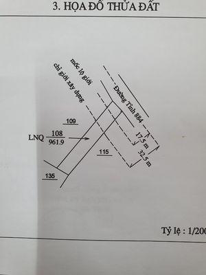 970m đất mặt tiền QL 57C xã Quới Thành