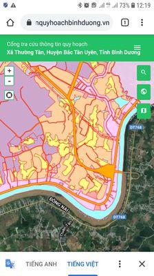 Đất làm xưởng mặt tiền DT 746 35540m2 Bắc Tân Uyên