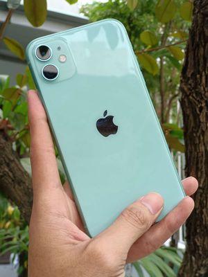 Iphone 11 Xanh Mint, Pin 100%,2 sim vật lý,BH 23.8