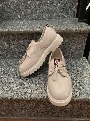Giày Oxford Kem Da Bóng Quảng Châu size 39 Xịn Đẹp