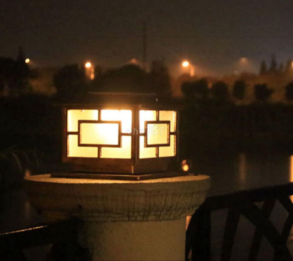 Đèn Trụ Cổng Năng Lượng Mặt Trời & Điện 220V