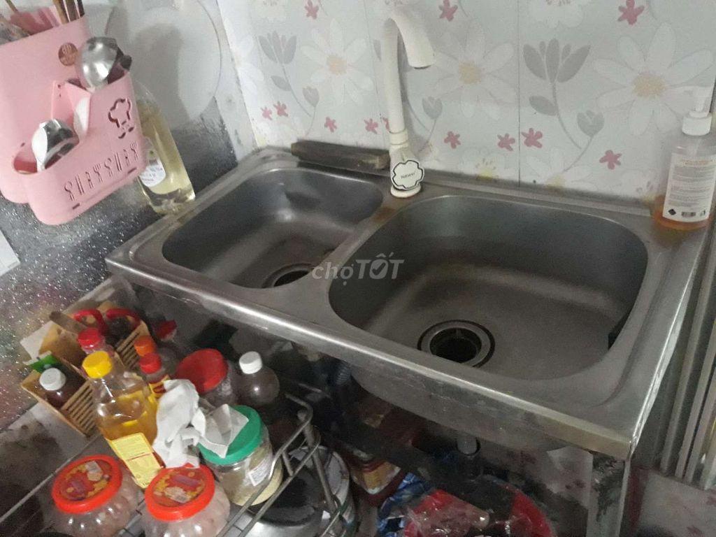 0913512138 - Thanh lý chậu rửa loại 02 chậu kèm vòi và chân đế