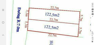 122.5m2 đất mặt đòng hợp thành thủy ngyên hp 9xxtr