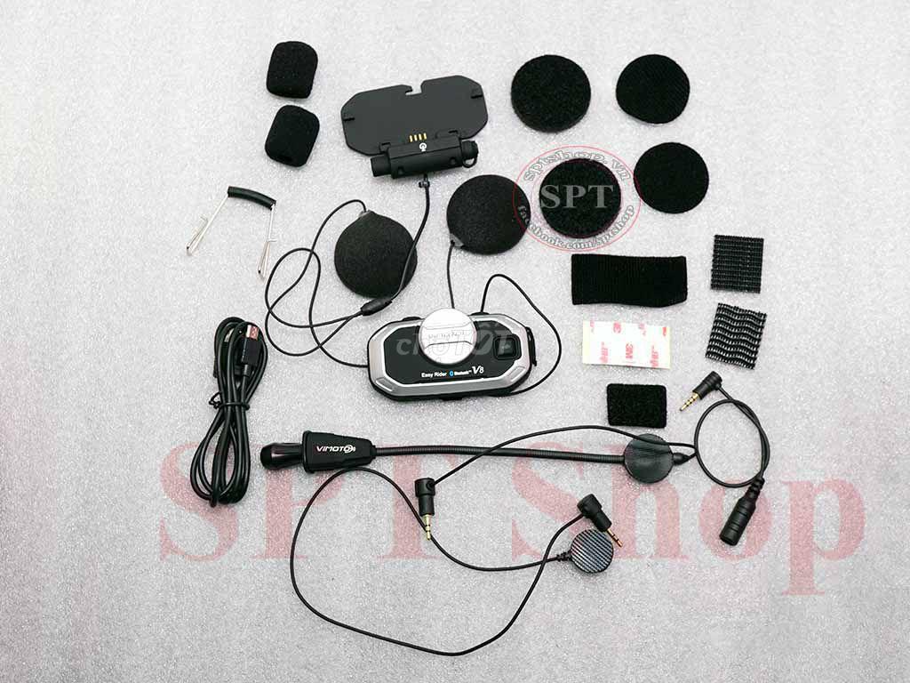 0792067177 - Tai Nghe Bluetooth Gắn Mũ Bảo Hiểm Vimoto V8