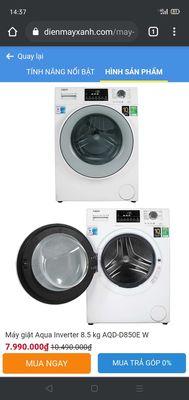 Cần bán máy giặt aqua inverter 8.5 kg