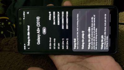 Galaxy a8 plus ram 6gb  zin màn đẹp nứt lưng sau
