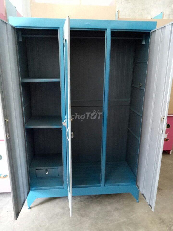 tủ sắt 1m8 x 1m2, 2 cửa 3 cửa mới 100%, FSHIP HCM