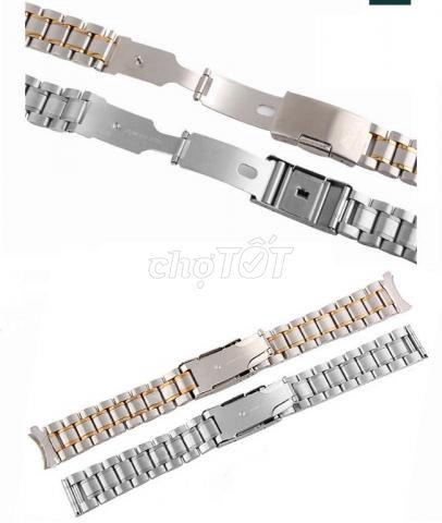 Dây đồng hồ inox đúc 20mm 22mm - MS: D1603