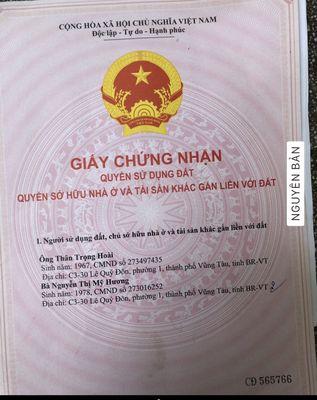 Bán đất thổ cư phường Long Tâm, thành phố Bà Rịa