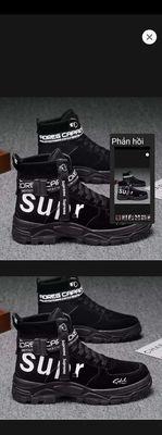 Giày sneaker cổ cao, đen , size 41