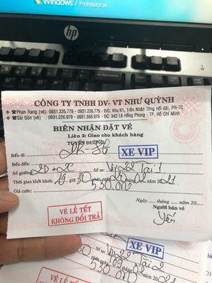 Bán 2 vé xe VIP Như Quỳnh Mùng 9 tết vô Sài Gòn