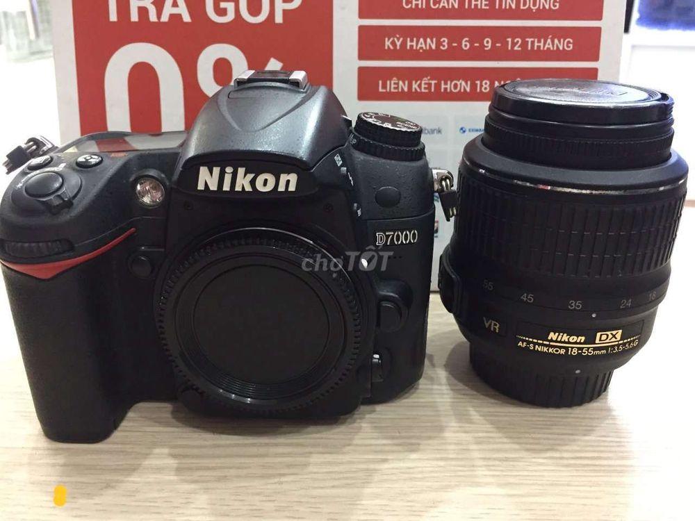Nikon D7000 + 18-55 vr đẹp keng dễ sử dụng