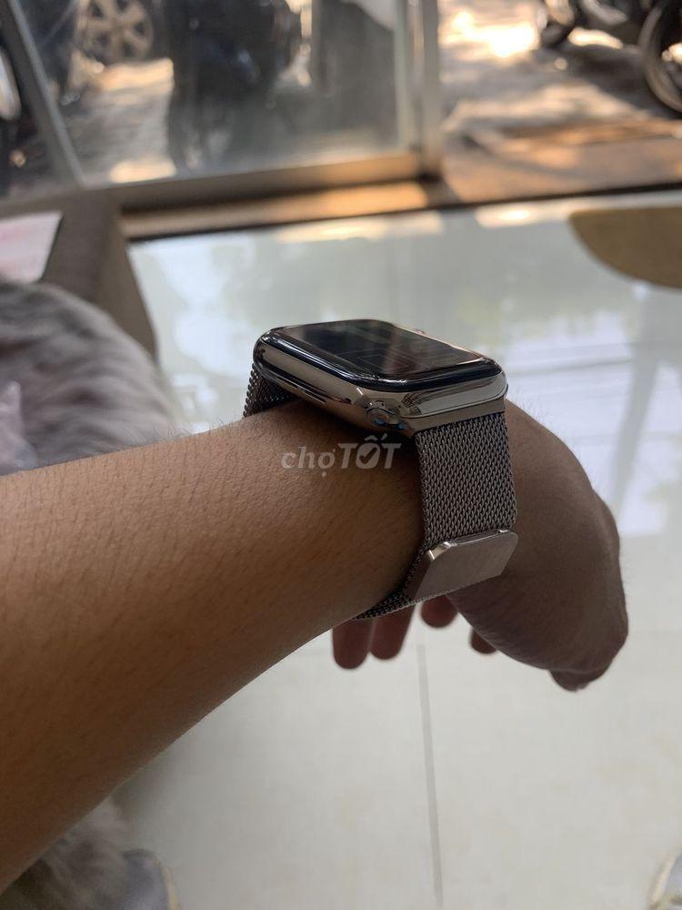 Apple watch s4 bản thép trắng Fullbox