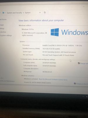 Dell latitude 5300 2 in 1 i5-8365U 16GB