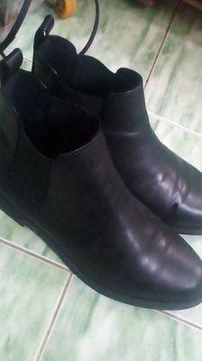Giày Boot Nữ Chelsea Da PU T56 - Đen..🙋