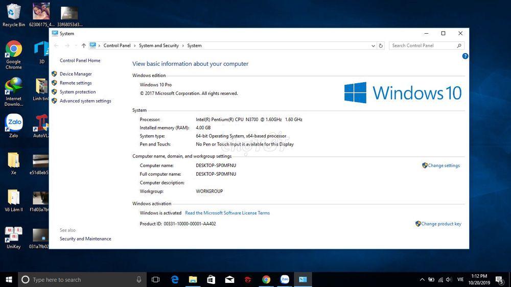 Cần bán nhanh con Dell inspiron 3452 Pentium 98%