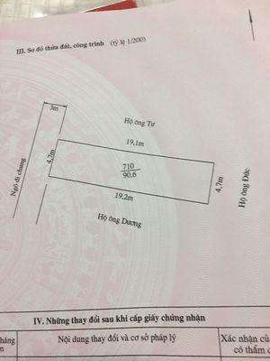 Bán lô đất ngõ 104 Cát Linh , Tràng Cát 90m2