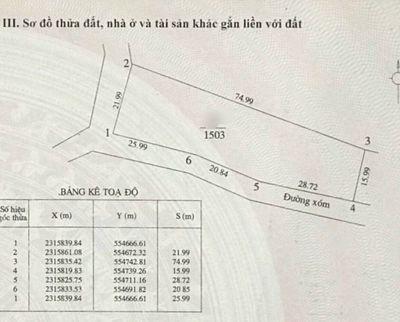 Lô góc Phú Mãn Huyện Quốc Oai 1.503m²