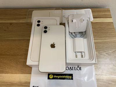 iphone 11 trắng 64gb đang sài BH tgdd 6Th fullbox