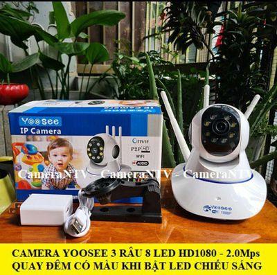 CAMERA 8 LED HD1080 - 2.0Mps - QUAY ĐÊM CÓ MÀU