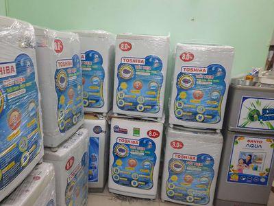 Máy giặt toshiba 8kg 9kg  cửa đứng mới 89% nguyên