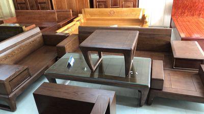 bộ bàn ghế sofa kệ gỗ hiện đại