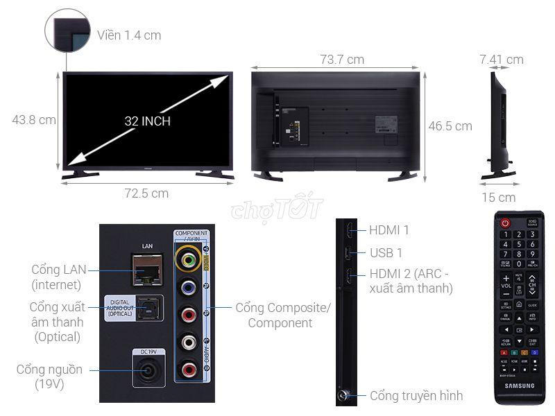 Tivi Samsung Smart 32in N4300 nguyên thùng rất đẹp