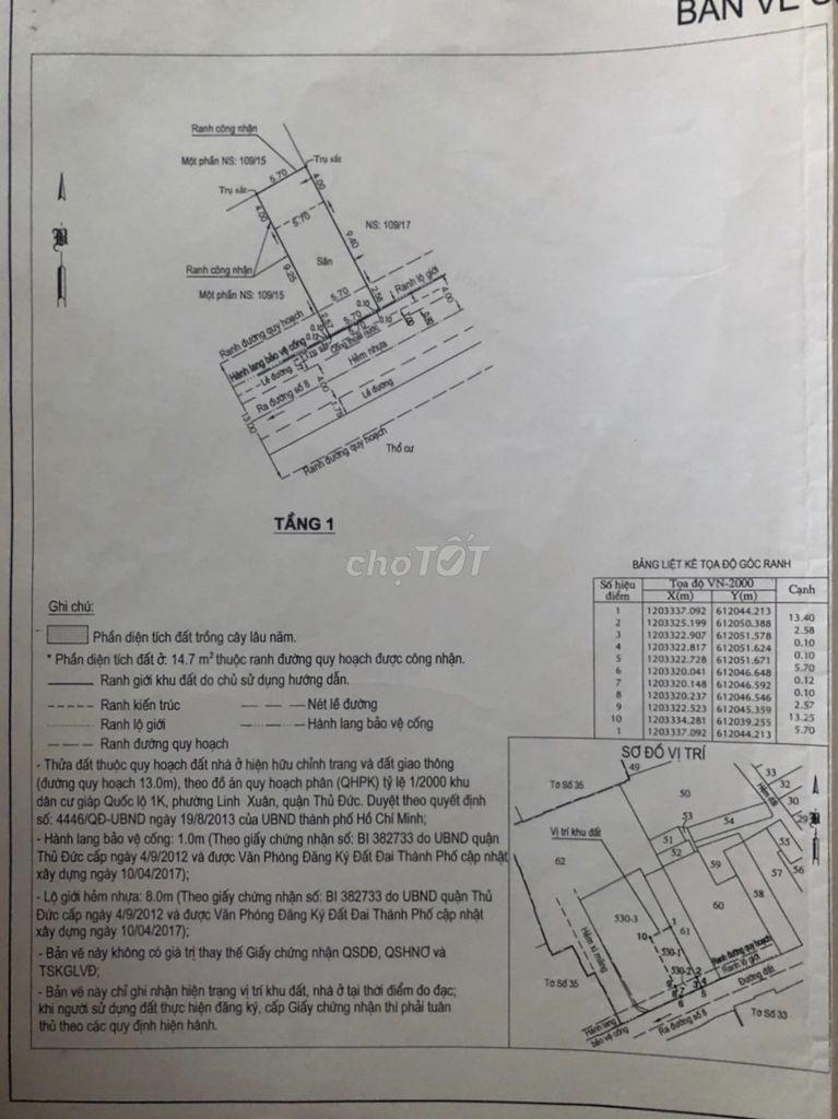 0987766188 - Đất 92m2 cách đường 8 Linh Xuân 30m thông buôn bán