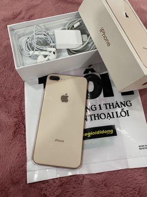 iPhone 8 Plus 256G Vàng QTế Zin 100% Đẹp CBH 3T