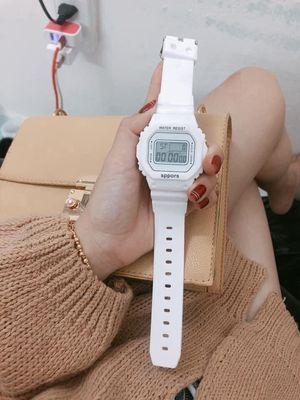 Đồng hồ nam nữ Sports điện tử mặt vuông