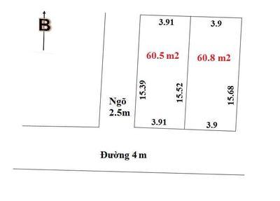 Chính chủ bán Lô góc 60m2 gần KCN Quang Minh