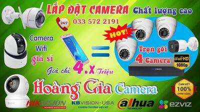 Bộ 4 Camera KBVISION 2mpx - Bao công lắp đặt + dây