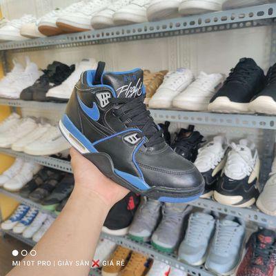 Giày Jordan flight, xanh đen, size 42