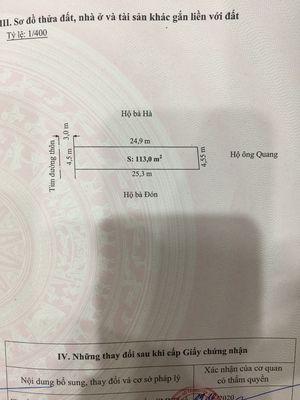 Bán đất thổ cư thôn Quỳnh Hoàng