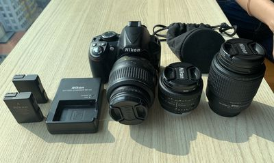 Nikon D3100 DSLR Camera + Lenses + More!