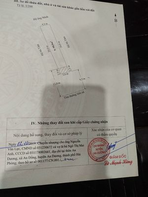 Bán lô đất 90m² mặt đường Trang Quan, An Đồng