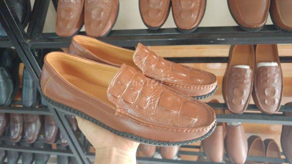 giày lười da bò đế khâu chắc chắn và êm chân