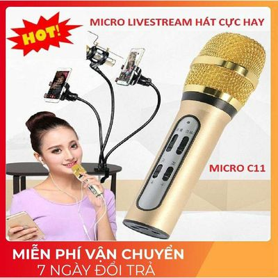 Mic Thu âm C11 livestream nâng cấp