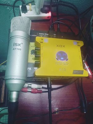 Combo Sound Card K10 2020 còn BH, micro AT100