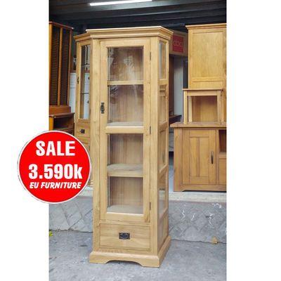 tủ trưng bày gỗ sồi Mỹ phòng khách phòng làm việc