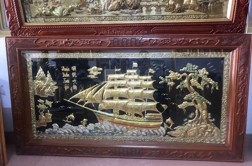 Tranh Thuận Buồm Xuôi gió dát vàng