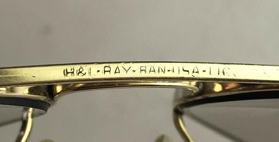 0916566826 - Kính Rayban Aviator B&L. USA bọc vàng